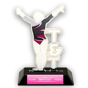 Female T&T Victory Series Acrylic Trophy [ACR-15TTF]